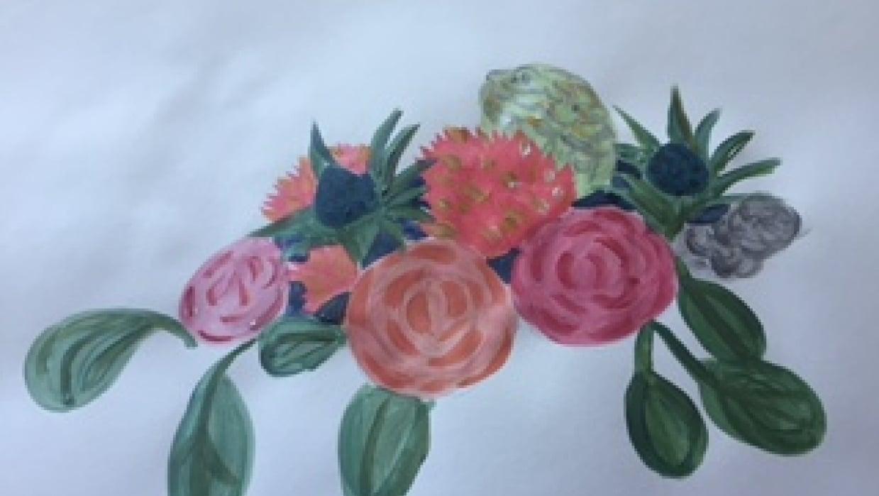 Vintage Floral - student project