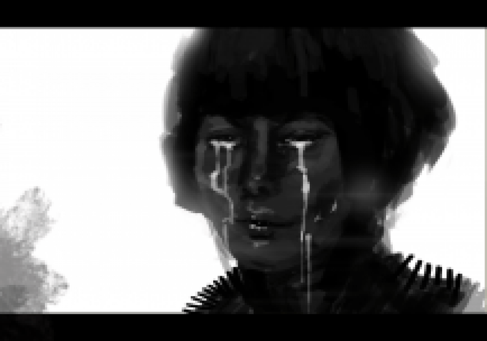 Crying Girl - student project
