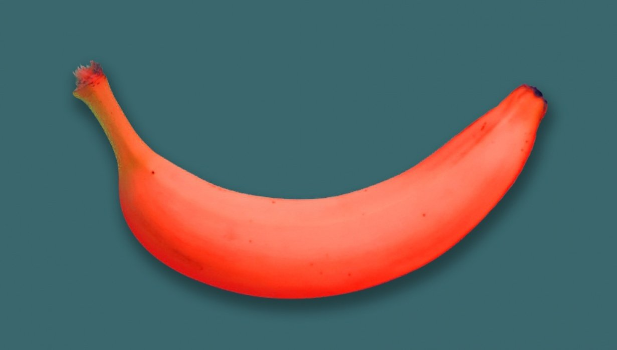 Banana cutout in Photoshop - student project