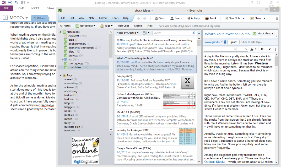 Migrate from Evernote to OneNote and Speed Up Reading - student project