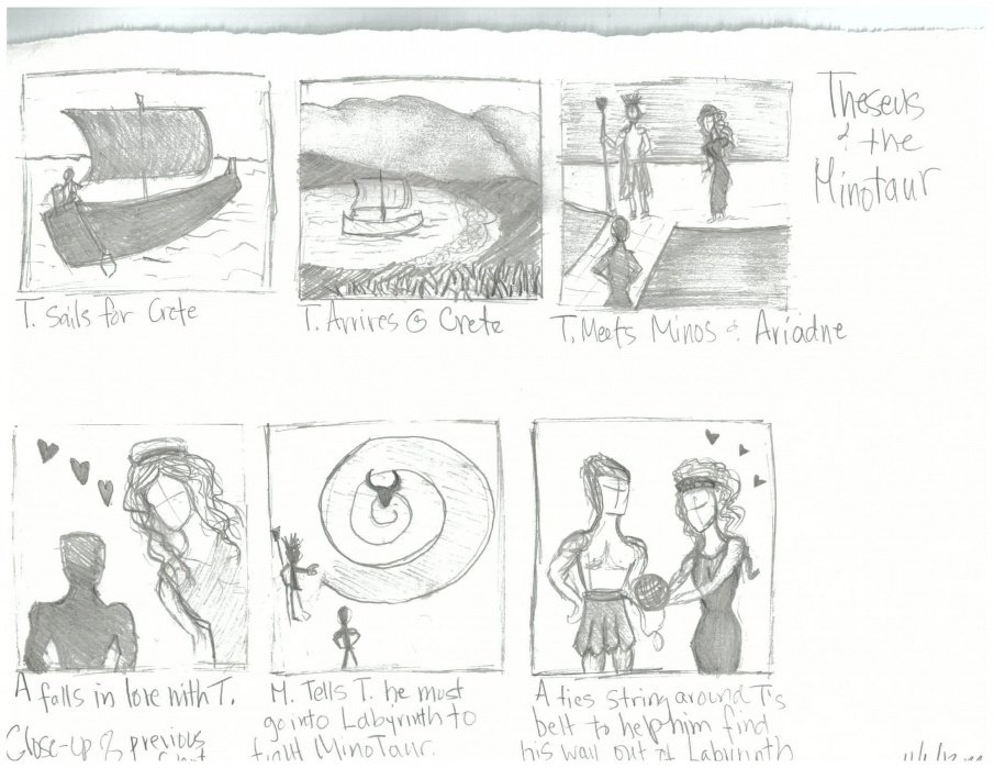 Theseus and the Minotaur - student project