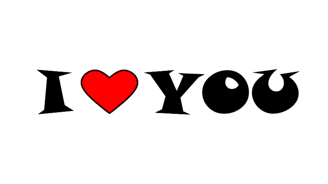 I love you logo - student project