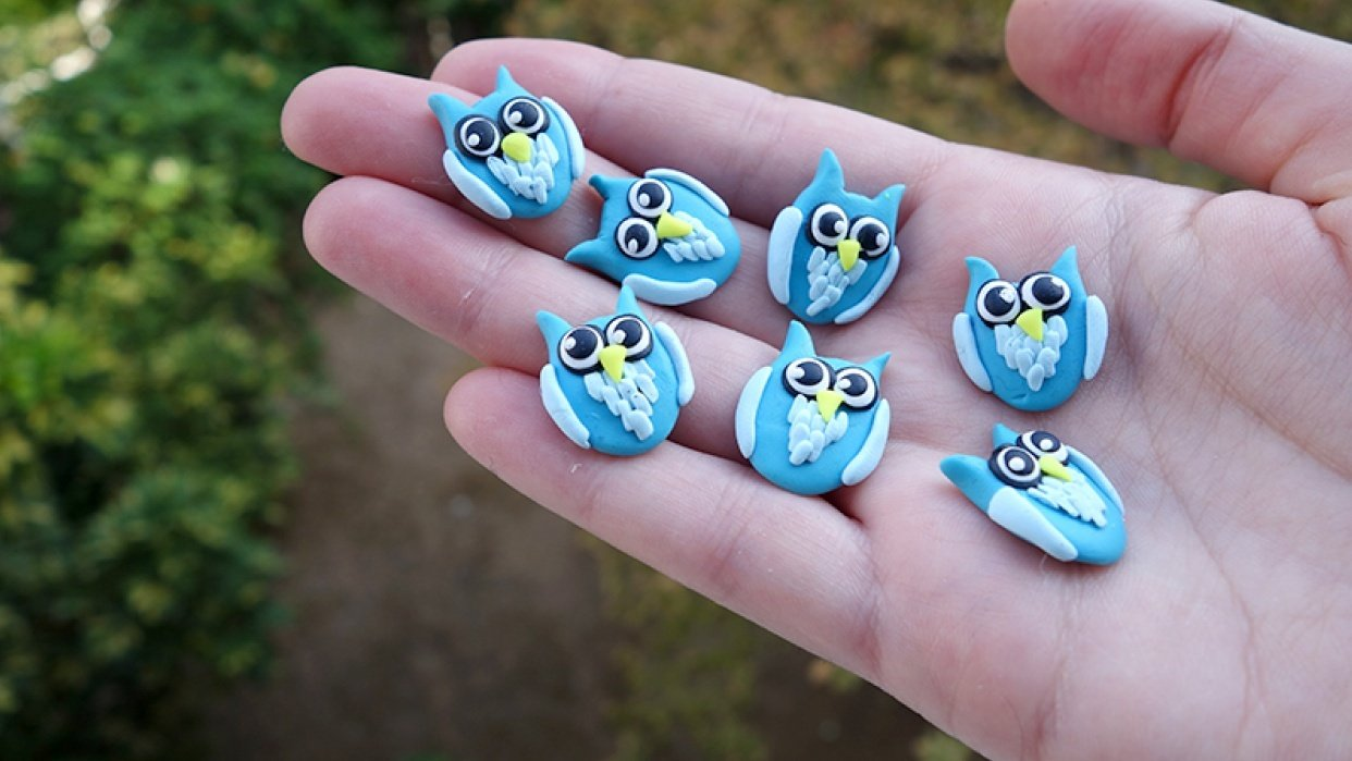 Polymer Clay Owls - student project