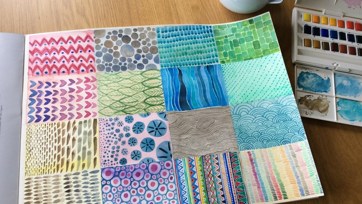 Texture swatches - student project