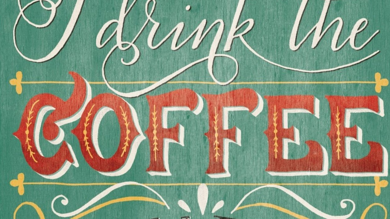 Vintage coffee quote - student project