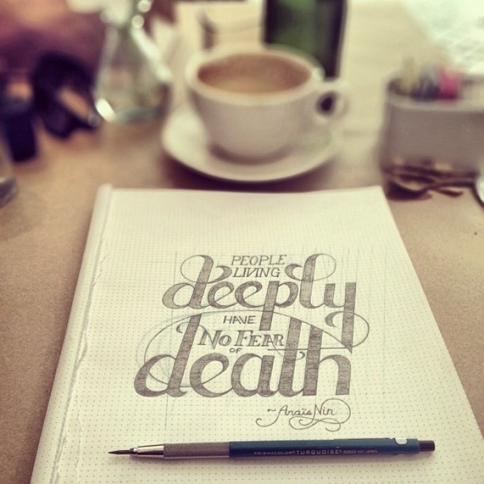 Living deeply is the only way to live - student project