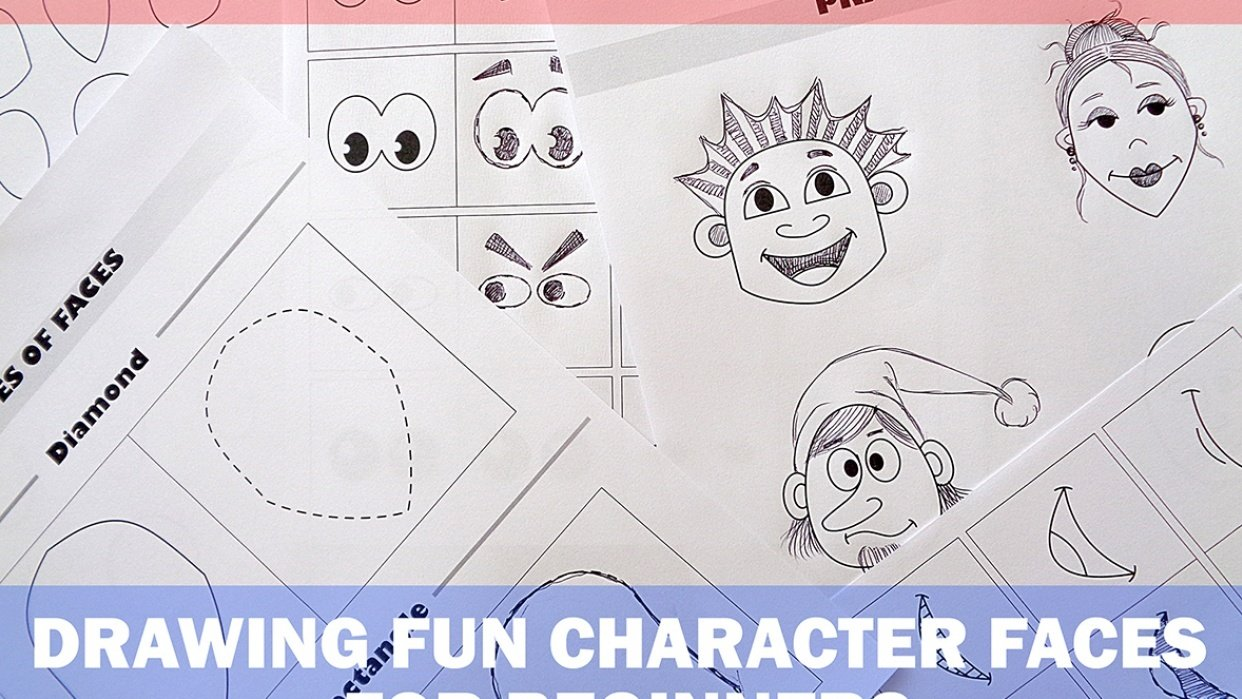 Drawing Fun Character Faces for Beginners - student project