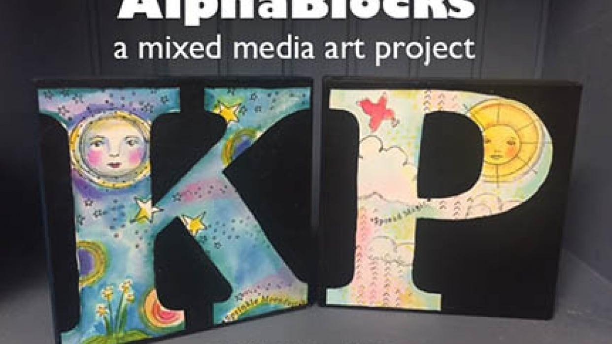 AlphaBlocks: A Mixed Media Art Project - student project