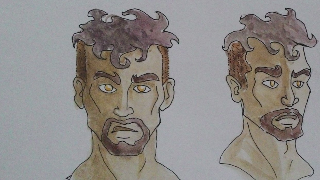 Some manly faces - student project