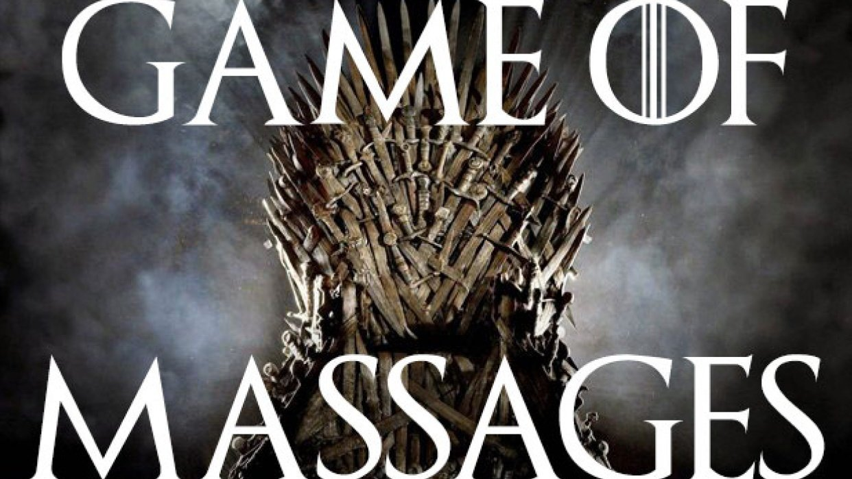 A Massage Worthy of the Iron Throne - student project