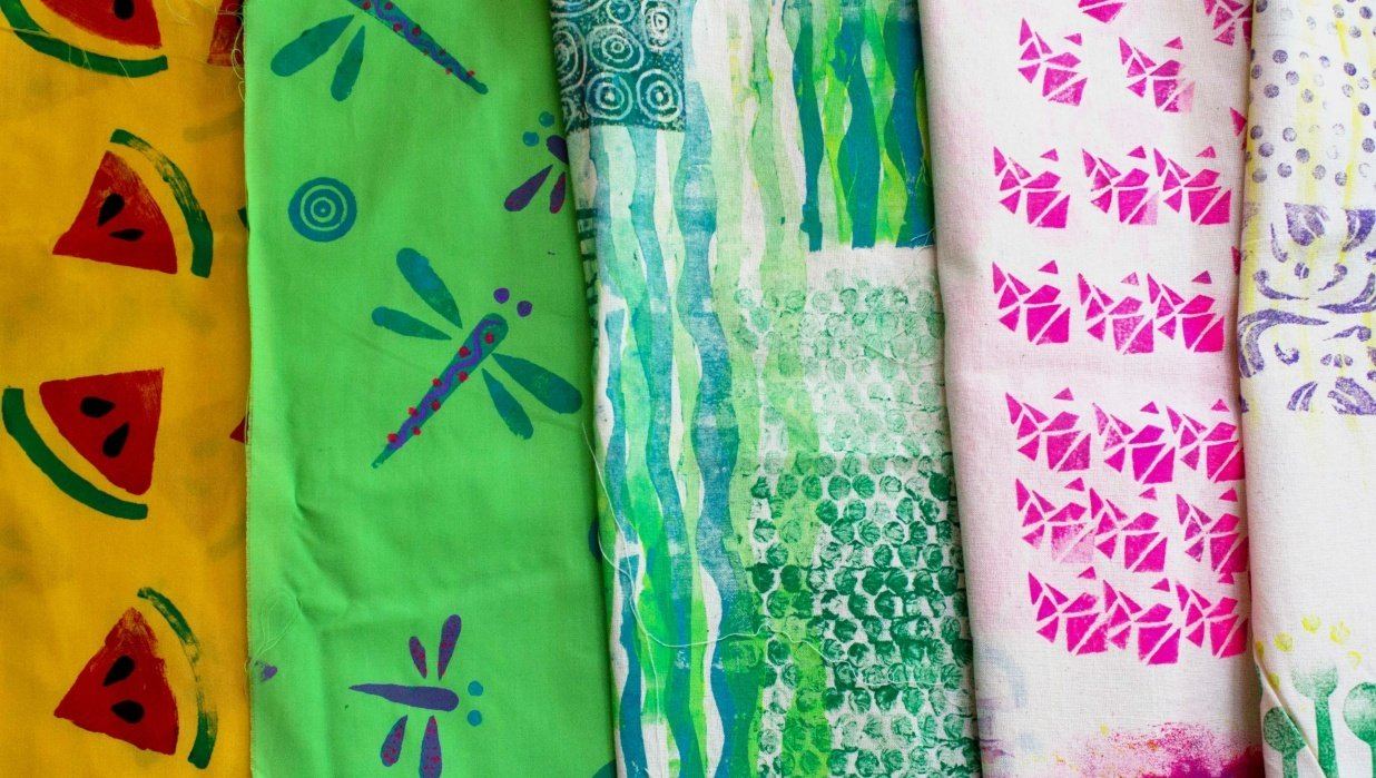 STAMPS EVERYWHERE. How to create Stamps to make patterns on fabrics! - student project