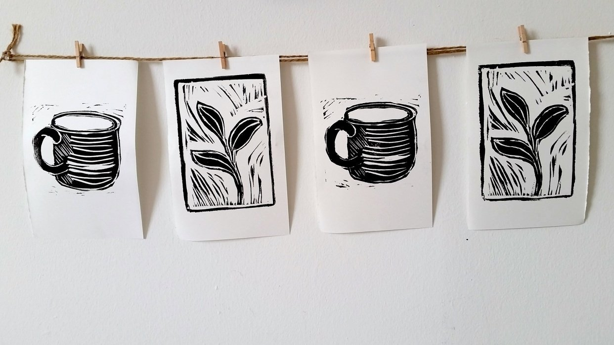 Linoleum Prints - student project