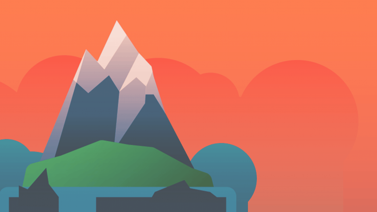 Island Project: The Lone Mountain (Sunset) - student project