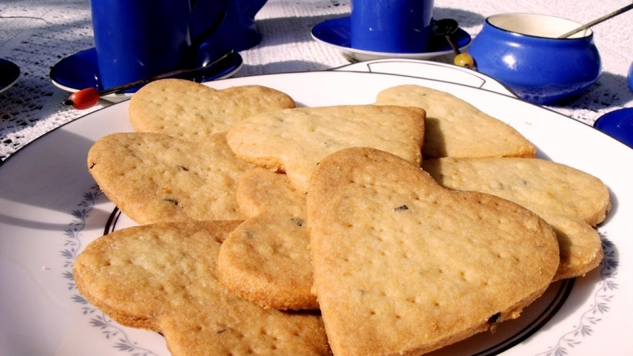 Lavender Shortbread cookies From My Norfolk Kitchen - student project