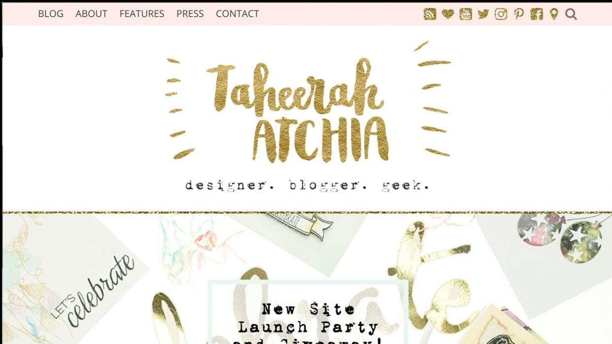 Taheerah Atchia - Designer. Blogger. Geek. - student project