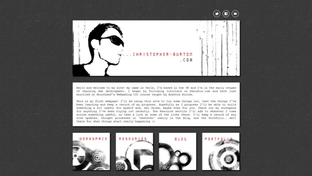 christopher-burton.com - student project