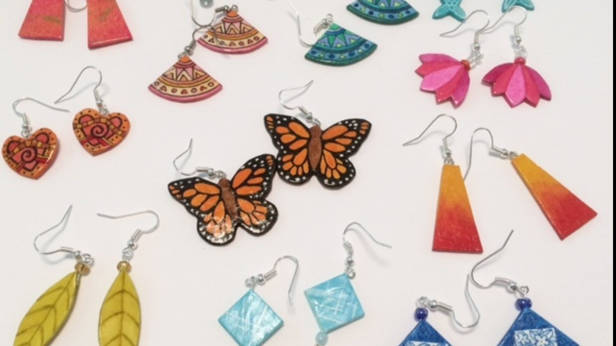 How to Make Beautiful Earrings from Paper - student project