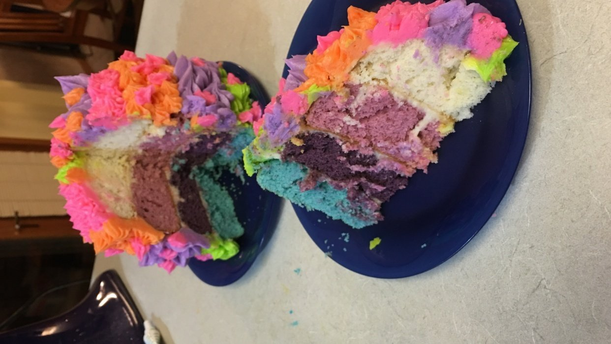 Ombre Cake trial - student project