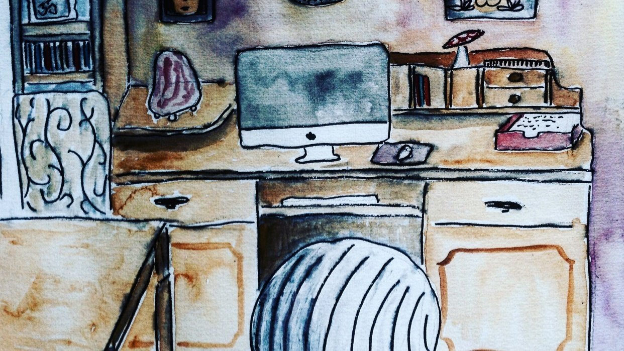 A little sketch of my studio - student project
