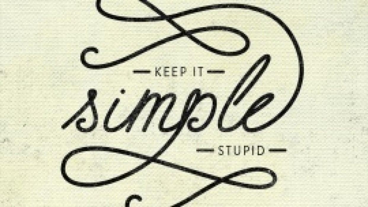 K.I.S.S Keep It Simple Stupid - student project