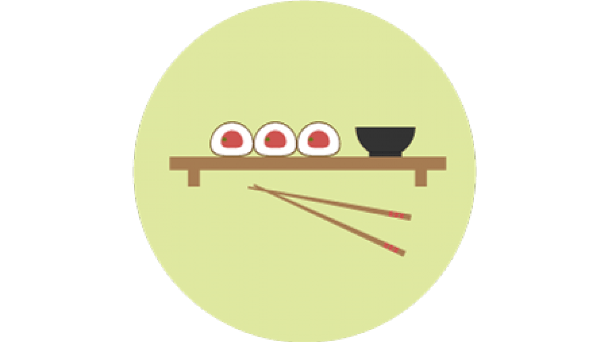 Flat Sushi Icon - student project