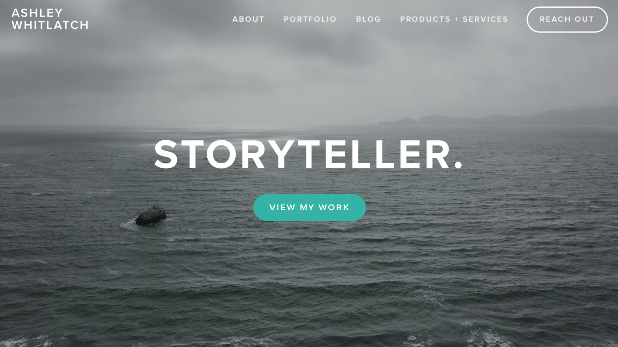 Personal Site - Portfolio + Brand Storytelling Services - student project