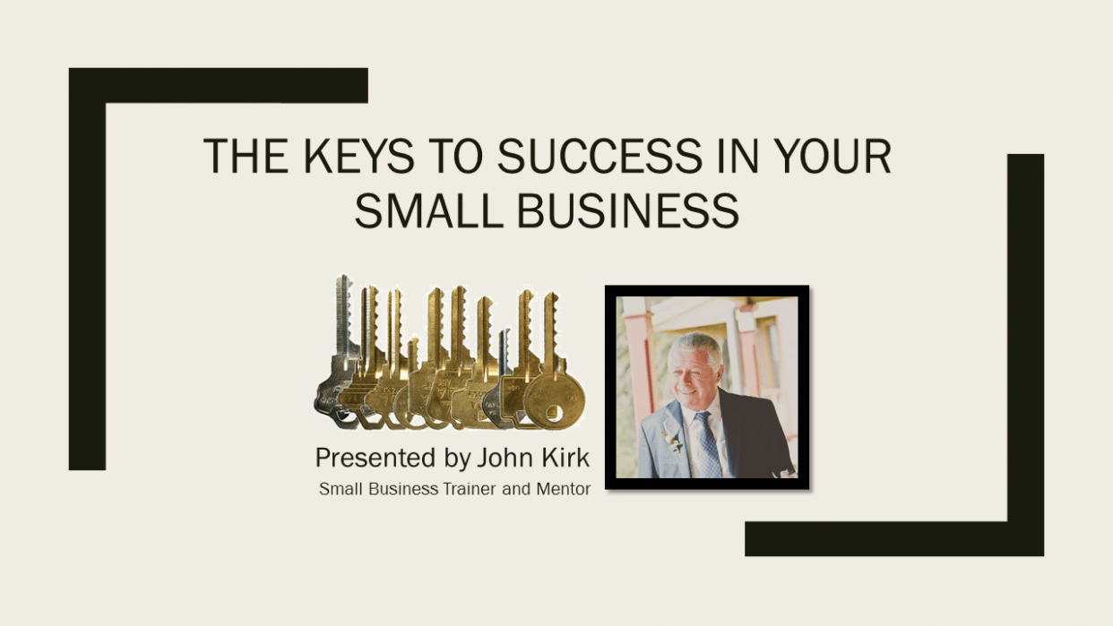 The Keys to Success in Your Small Business - Published!! - student project