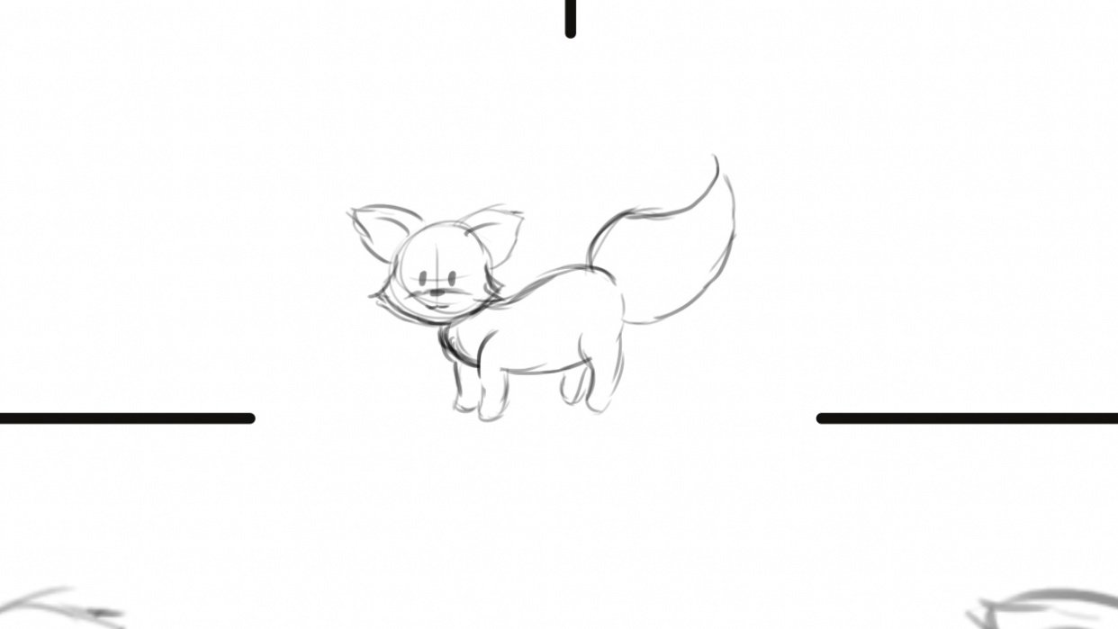 my cute little fox - student project