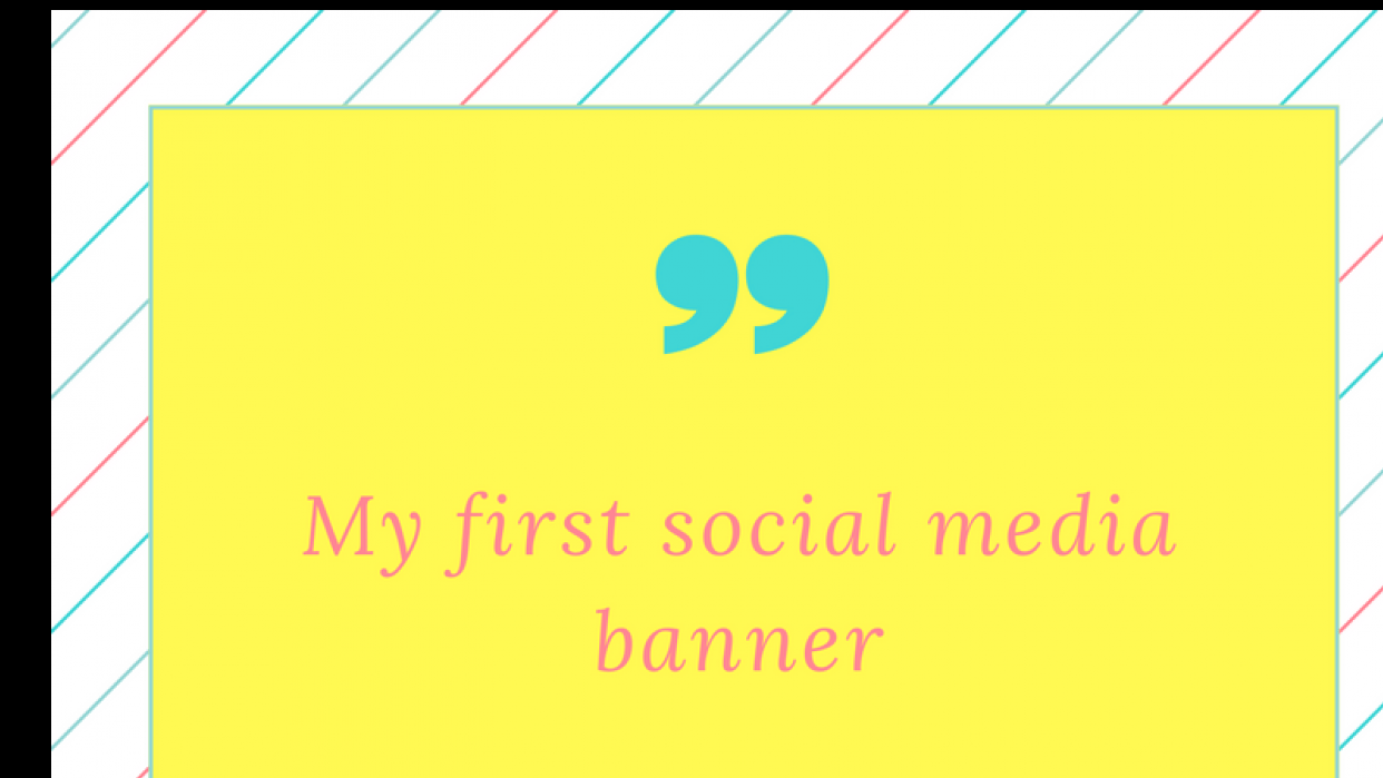 How to create social media banners - student project