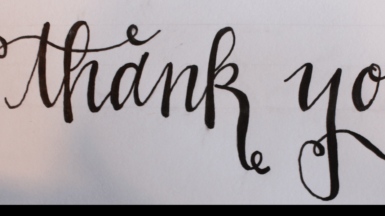 Feaux-lligraphy with Beth Hunt Calligraphy - student project