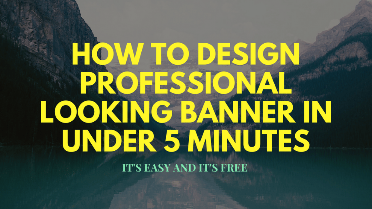 Make your first banner in less than 10 minutes  - student project