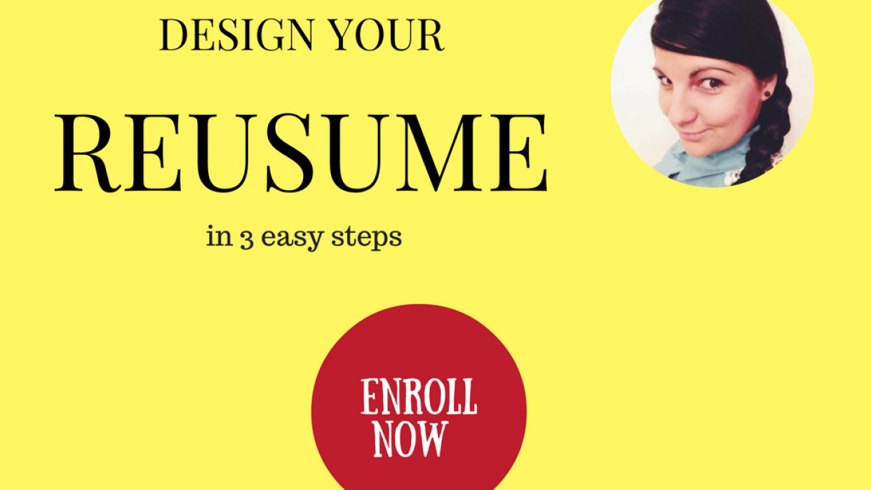 Create your DREAM JOB RESUME /CV using Canvа  - student project