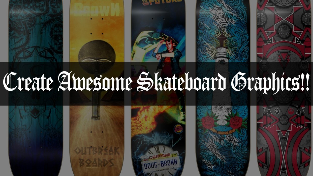 Create awesome skateboard graphics! - student project