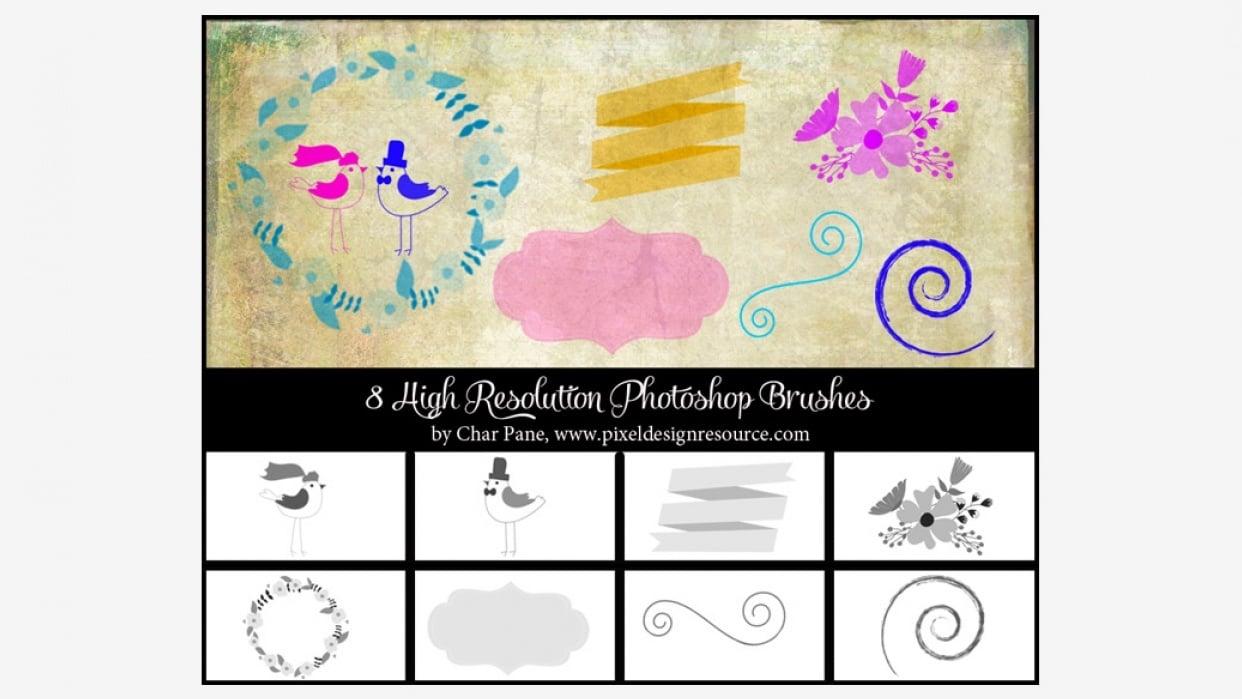 Whimsical Wedding Brush Set - student project