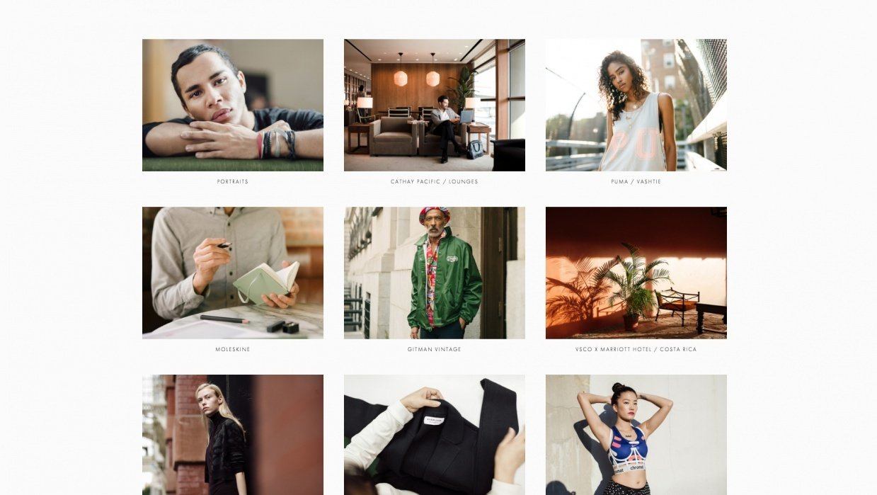 How To Professionally Edit Your Commercial Photography Website - student project