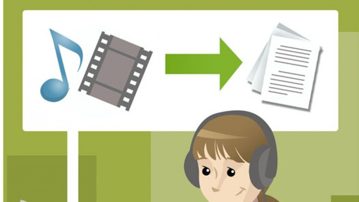 process for getting video transcribed and converted - step by step - student project