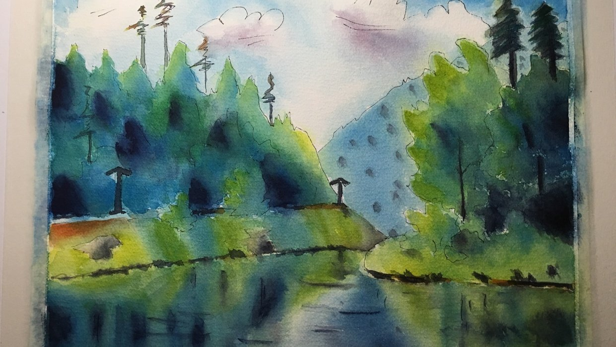 Paint a reflection - student project