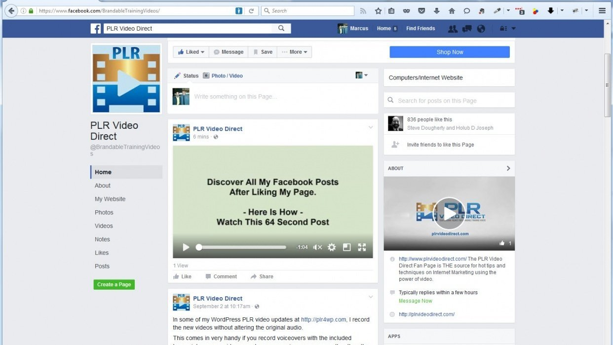 Increase Facebook Page Engagement  - student project