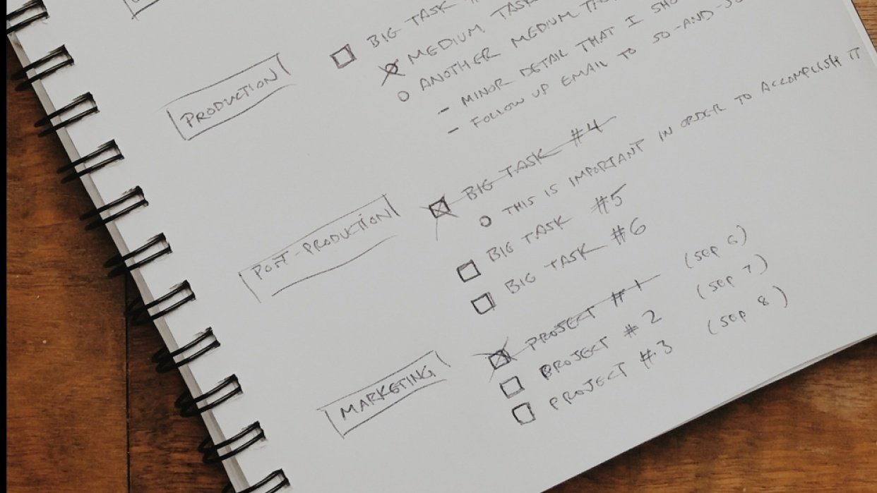 My productivity system - student project