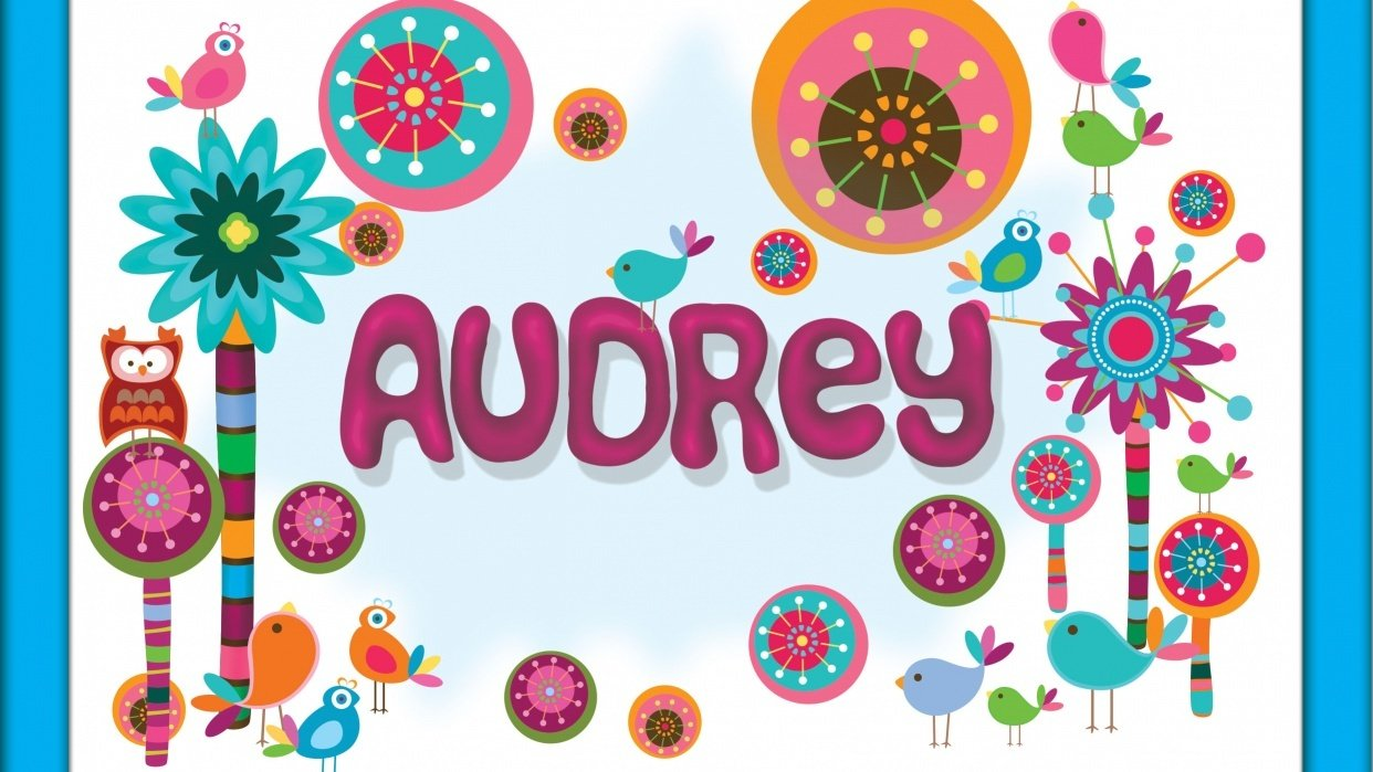Birthday Card For Audrey: Play-Doh Technique For Name and Background - student project