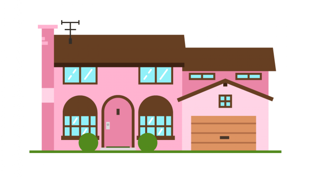 My House, not really - The Simpsons House - student project