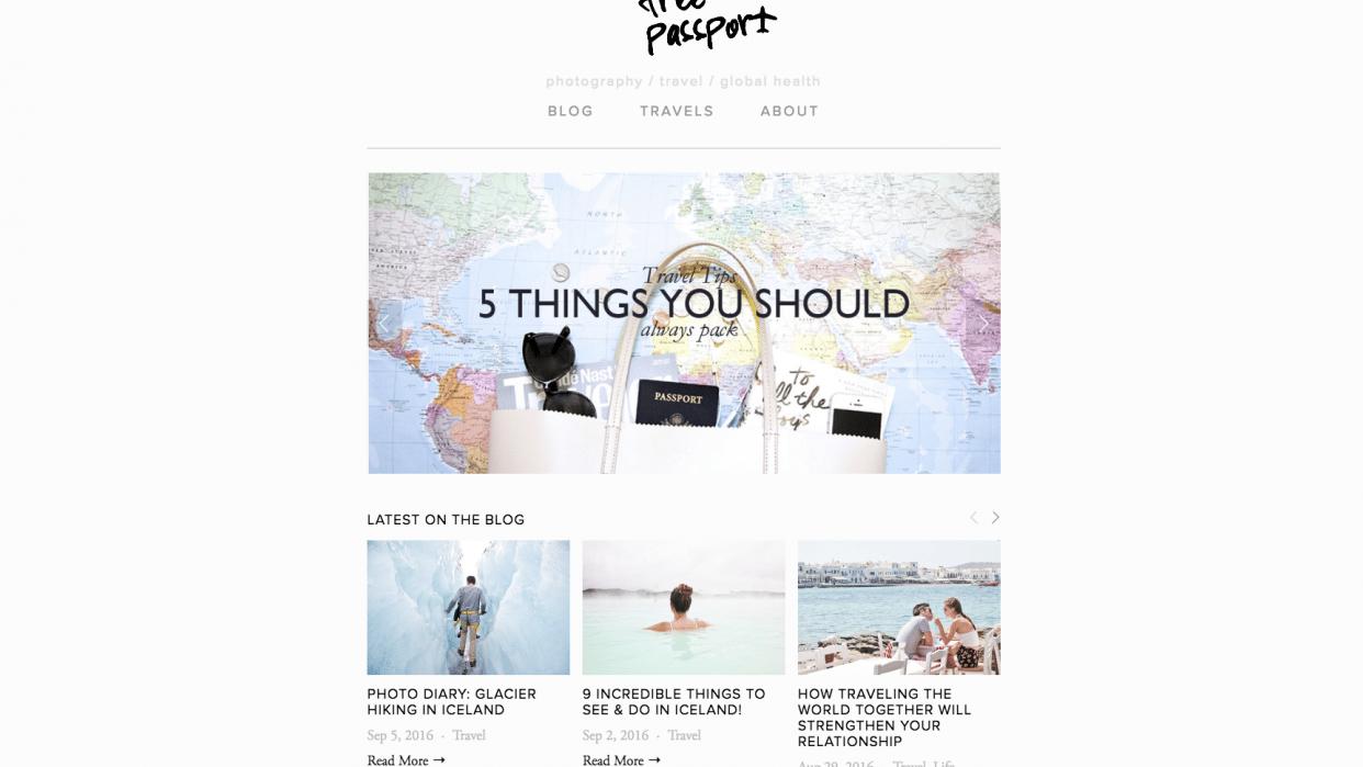 The Free Passport   Travel + Visual Storytelling Blog - student project