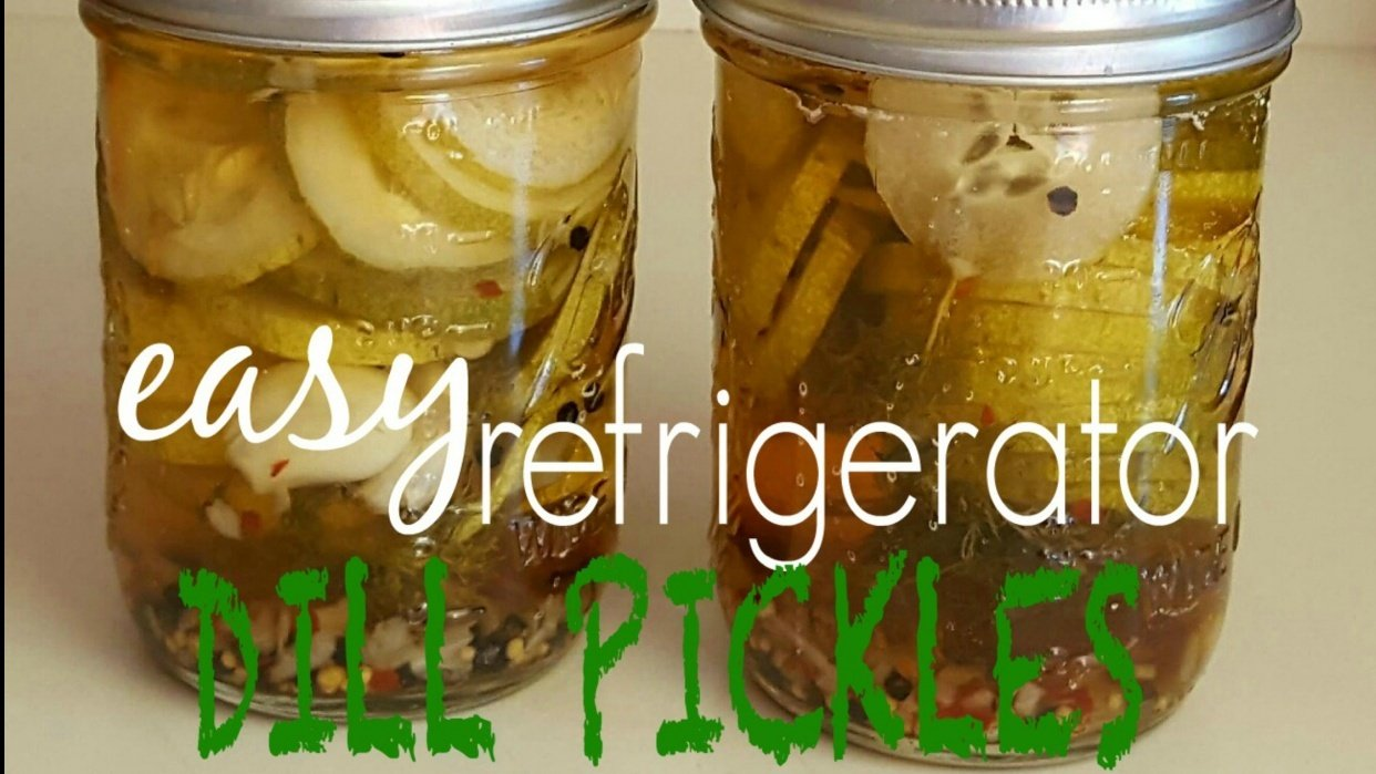 How To Make: Easy Refrigerator Dill Pickles - student project