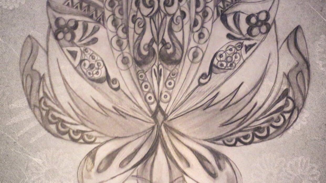 Lotus Design using Basic Shapes - student project