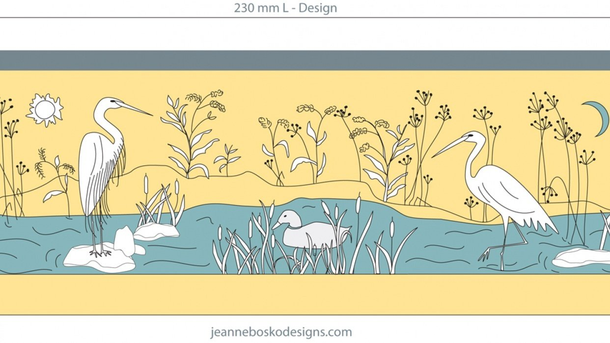 Egrets in the Wetlands - student project