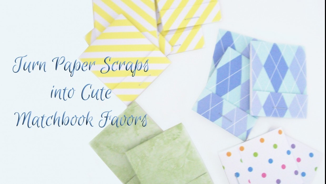Turn Paper Scraps into Cute Matchbook Favors - student project
