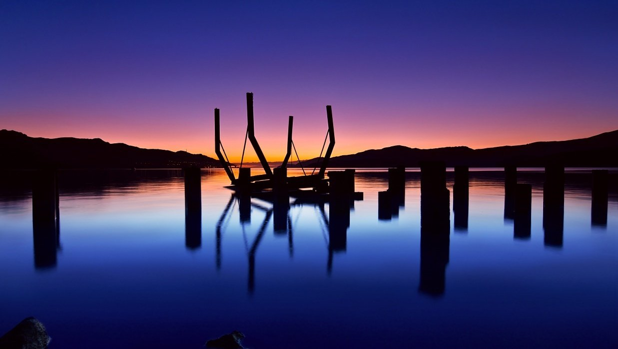 New Zealand landscapes at twilight - student project