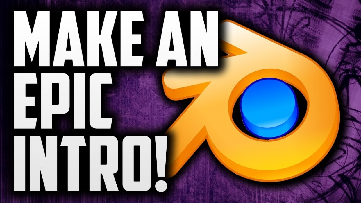 Create an Epic 3D Intro for your Youtube Channel - student project