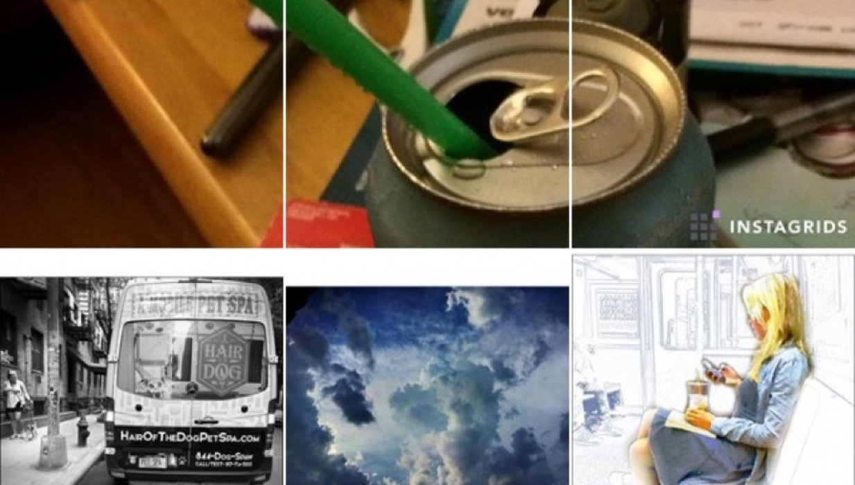Creating a multigrid image on Instagram - student project