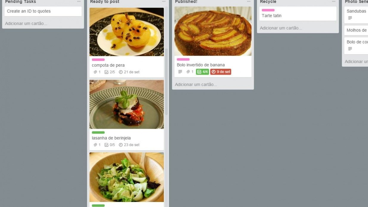 Social media strategy - Instagram for Luca na cozinha - student project